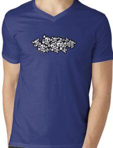 Cute Skulls Mens V-Neck T-Shirt