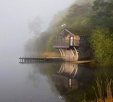 Boathouse in the Mist by Jonnyfez