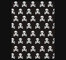 Black Skulls Kids Tee