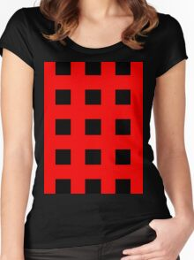 Red And Black Crosses Women's Fitted Scoop T-Shirt