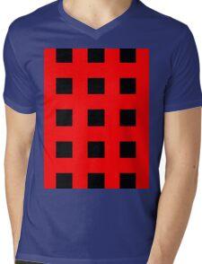 Red And Black Crosses Mens V-Neck T-Shirt