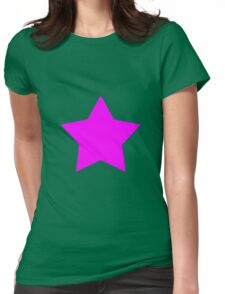 Pink Emo Star Womens Fitted T-Shirt
