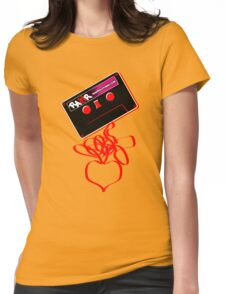 Retro Cassette Tape Love Womens Fitted T-Shirt