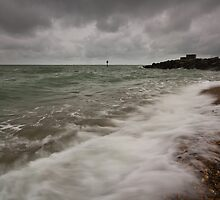 Gloomy morning on Eastbourne Seafront by willgudgeon