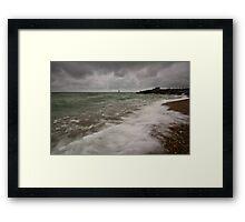 Gloomy morning on Eastbourne Seafront Framed Print