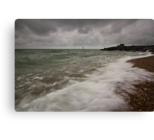 Gloomy morning on Eastbourne Seafront Canvas Print