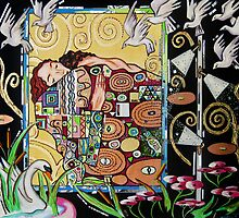 Interior with Klimt by Louis Recchia and Zoa Ace