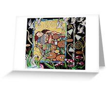 Interior with Klimt Greeting Card