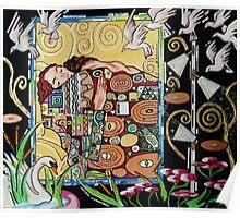 Interior with Klimt Poster