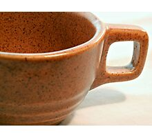 Vintage Pottery Cup Handle Photographic Print