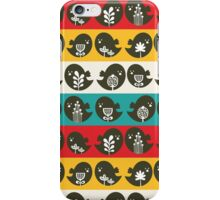Birds and lines. iPhone Case/Skin