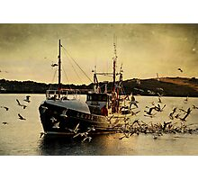 The Fishing Boat 'COMRADES' Coming Home With A Catch Photographic Print