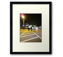 A Night Walk In The Street Framed Print