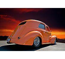 1938 Willys Sedan Sunset I Photographic Print