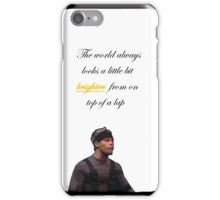 Starship the world always looks a little bit brighter from on top of a lap iPhone Case/Skin