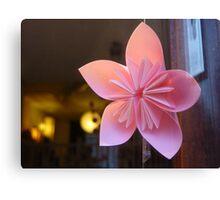 paper star flower Canvas Print