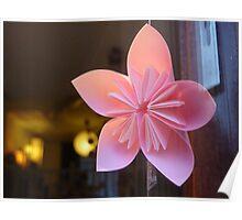 paper star flower Poster