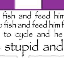 Fishing is Boring Sticker