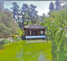 Chinese Tea House by Joni  Rae