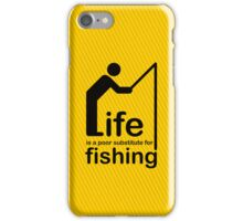 Fishing v Life iPhone Case/Skin