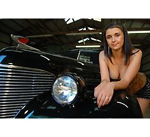 Beth on a fender Photographic Print
