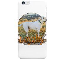 White lab loyalty  iPhone Case/Skin