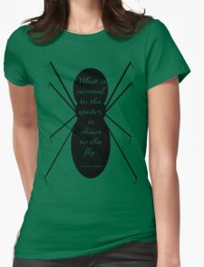 Morticia Addams Spider Quote Womens Fitted T-Shirt