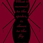Morticia Addams Spider Quote by Kieran Rundle