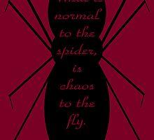 Morticia Addams Spider Quote by Kieran Rundle