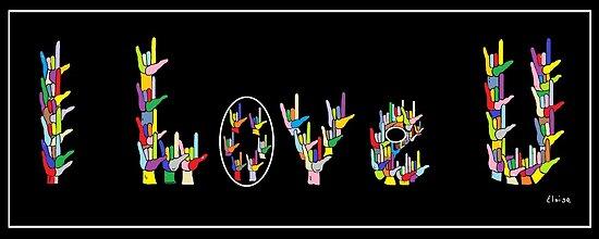 I LOVE U by EloiseArt