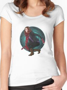 Amy and the Pandorica (Doctor Who) Women's Fitted Scoop T-Shirt