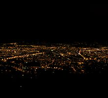 Nighttime In Cuenca Ecuador by Al Bourassa