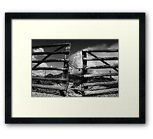 Locked Up in Nowhere Landscape Framed Print