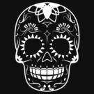 White-Sugar Skull by hmx23