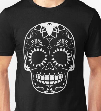 White-Sugar Skull Unisex T-Shirt