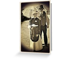 Parasol and Top Hat Greeting Card