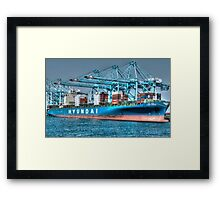 Hyundai Shipping Framed Print