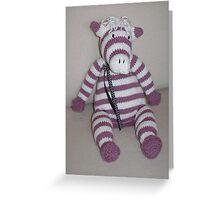 Pink Zebra Foal Greeting Card