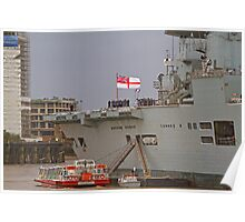 HMS Illustrious in Greenwich Poster