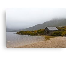 The Boatshed - Dove lake Canvas Print