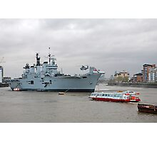 HMS Illustrious in Greenwich Photographic Print