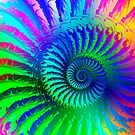 Rainbow Psychedelic Eye Fractal Art Print by printsbypixie