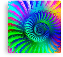Rainbow Psychedelic Eye Fractal Art Print Canvas Print