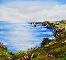 Kilkee Cliffs Oil Painting by Avril Brand