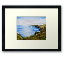 Kilkee Cliffs Oil Painting Framed Print