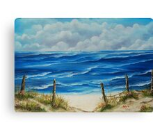 Fanore Beach, County Clare - oil painting Canvas Print