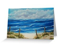 Fanore Beach, County Clare - oil painting Greeting Card