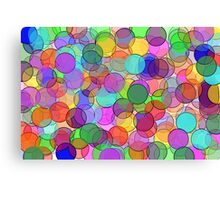 Polka Dot Stained Glass Canvas Print