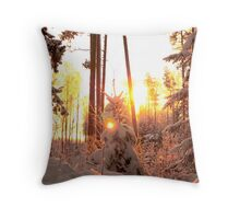 Winter on fire Throw Pillow