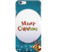 Merry Chrismas Blue iPhone Case ,Casing 4 4s 5 5s 5c 6 6plus Case - Merry Chrismas Blue Samsung case s3 s4 s5 iPhone Case/Skin